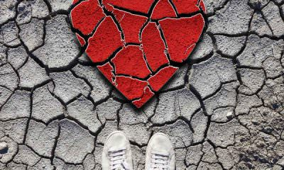 broken heart, sneakers