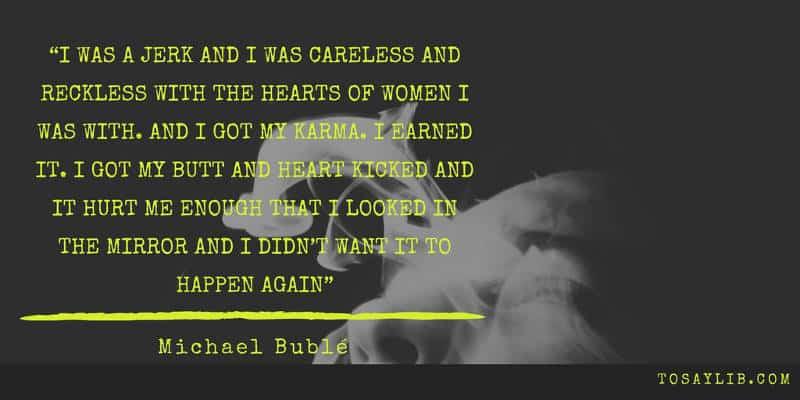 breakup quote michael buble