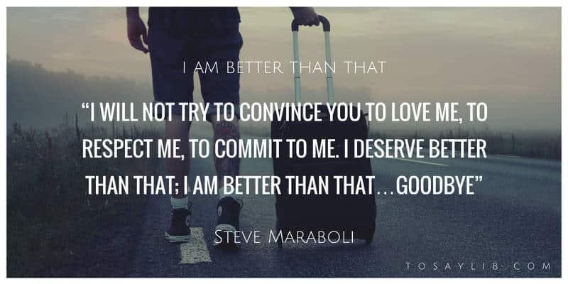 breakup quote steve maraboli