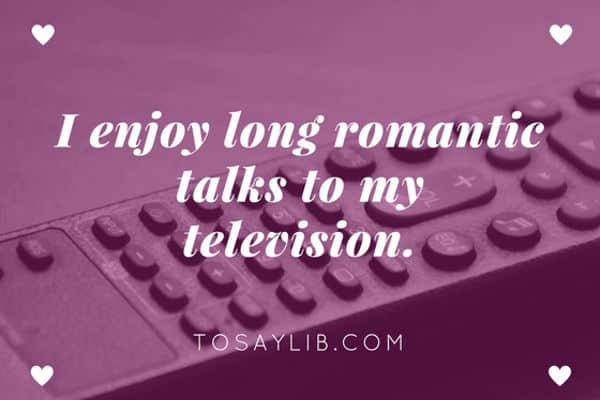 funny quote romantic talk television