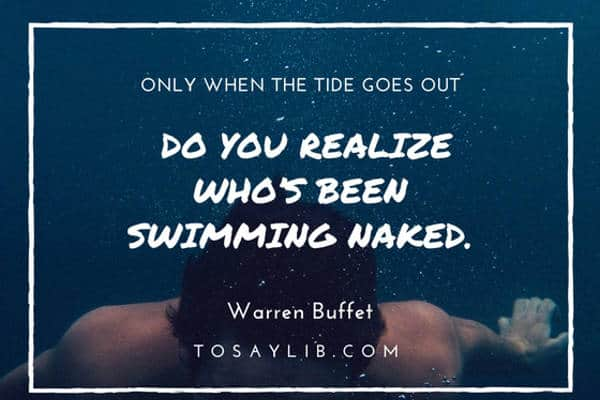 funny quote warren buffet swimming naked