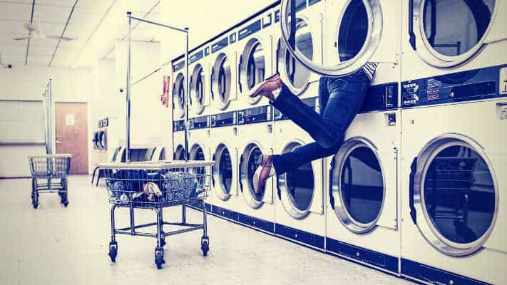 laundry lady washing machine