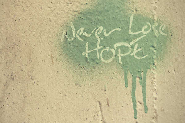 Never lose hope wall painting