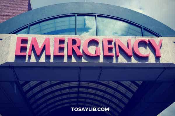 emergency at hospital