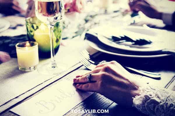 wedding banquet card of bride