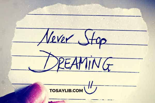 never stop dreaming note