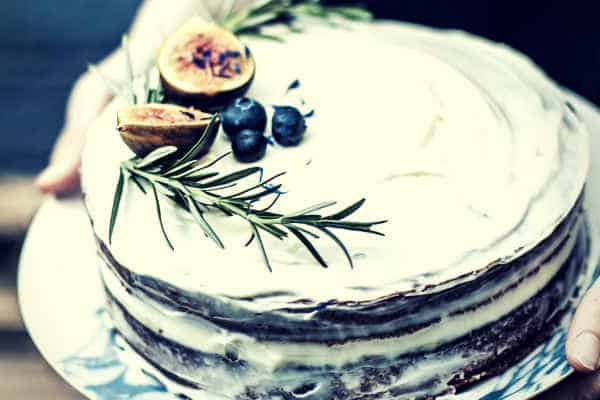 Delicious Homemade Birthday Cake Blueberry