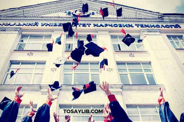 throwing graduaion caps in the air university