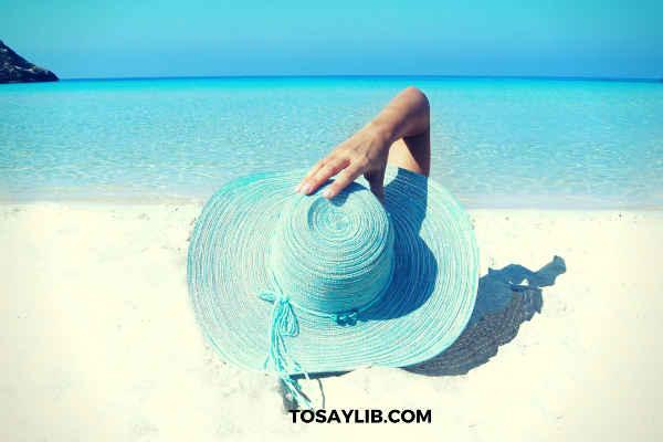 relaxing on the beach blue ocean
