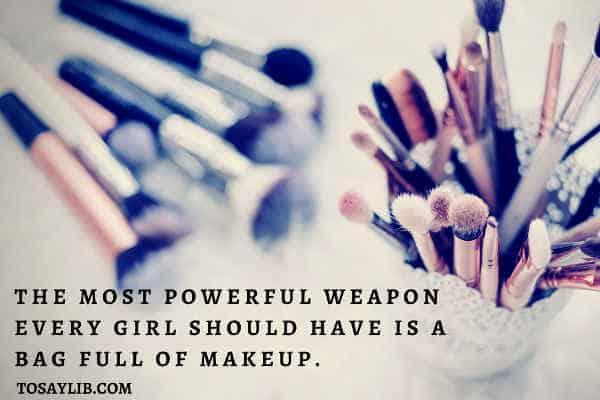 pen holder of make up brushes
