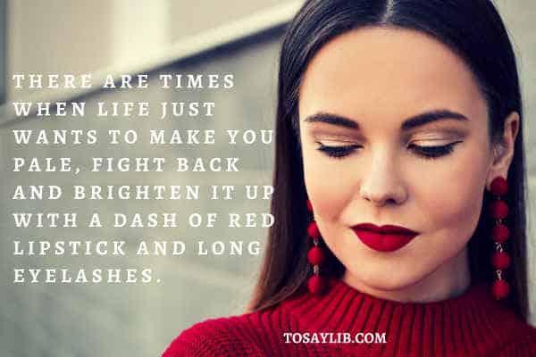 red lipstick fake eyelashes pretty girl