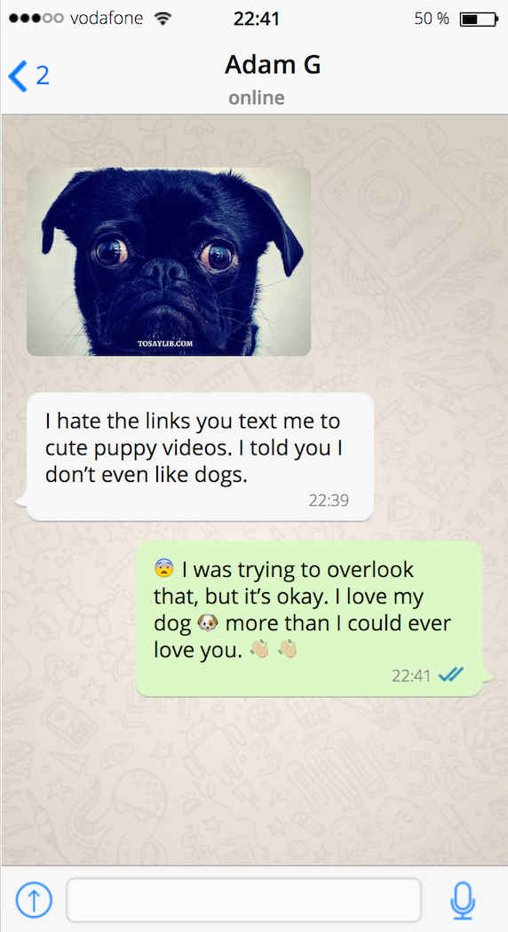 breakup text cute puppy video links1
