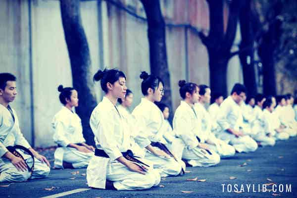 martial artists black belt meditation