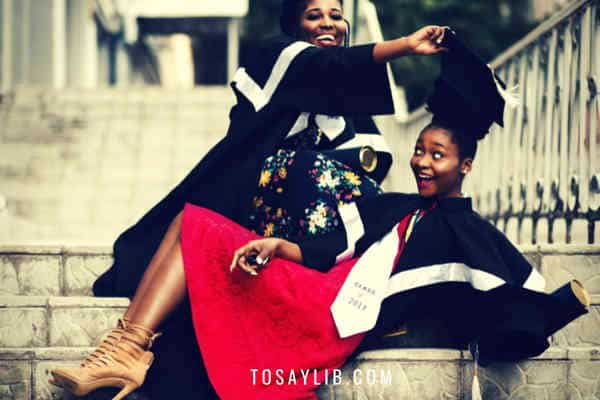 university graduation students playing funny photos
