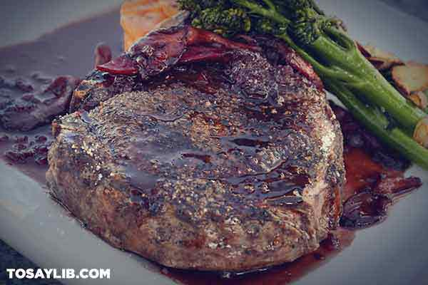 28 Closed up photo of meat with marinade sauce