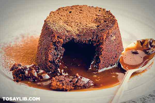 61 Slice of oozing pudding