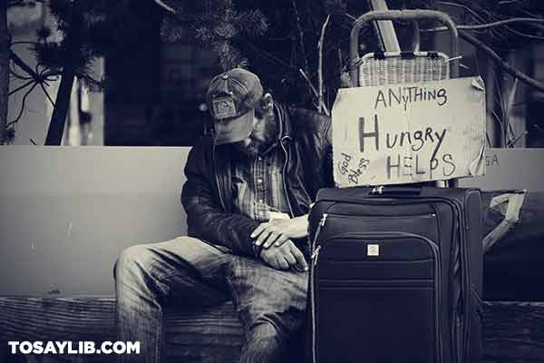 13 Picture of a homeless person