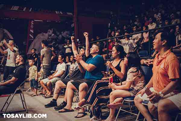 31 Photo of a crowd cheering and applauding