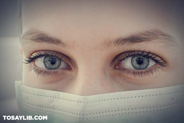 10 Closeup photo of a nurse with a face mask