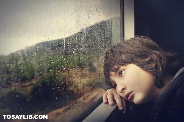 25 Picture of a lonely boy staring out the window