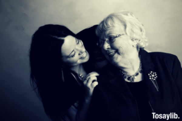 grandmother love friendship black and white