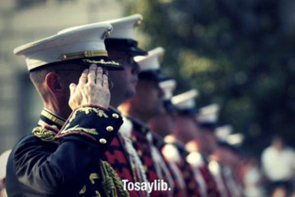 soldiers military attention salute