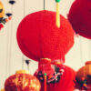 red lanterns chinese new year