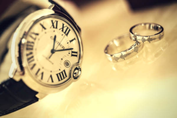 12-feature-watch-lether-strap-couple-silver-wedding-ring
