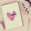feature-pink-notebook-pencil-glittered-tape-flowers