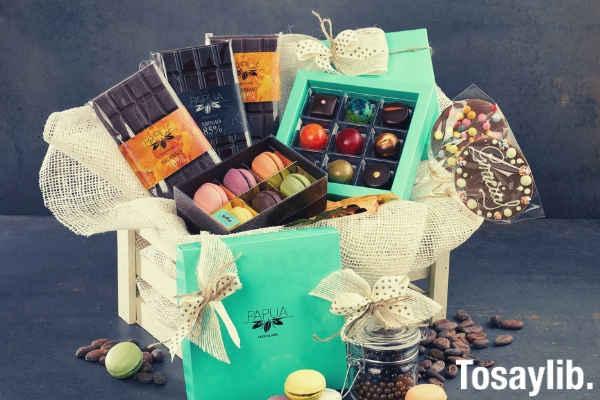 basket of christmas chocolates