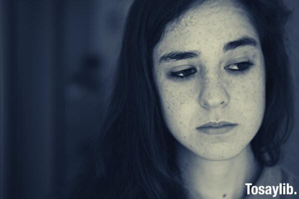 close up shot of woman sad