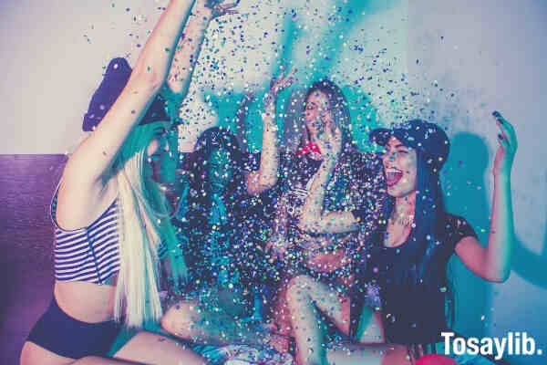 photo of women having a party