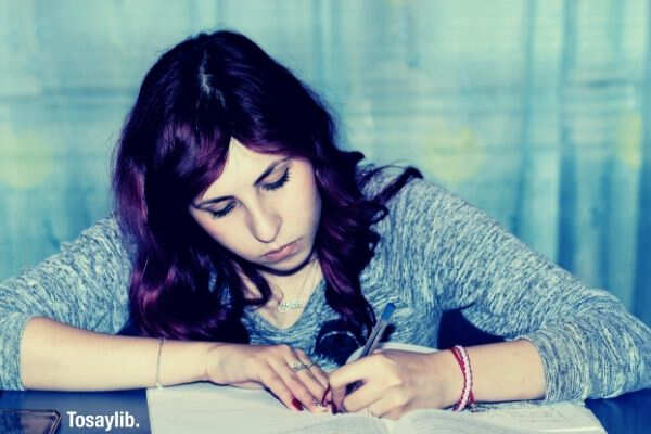 girl learning person studying