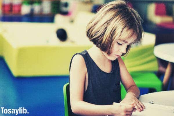 cute little girl writting 1