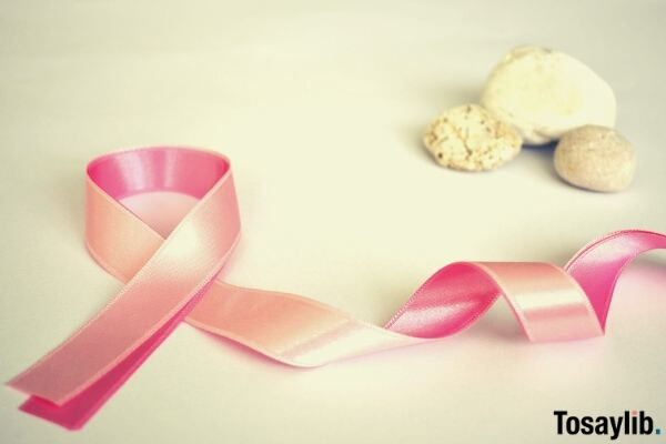 pink ribbon white background