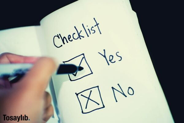checklist check yes or no decision