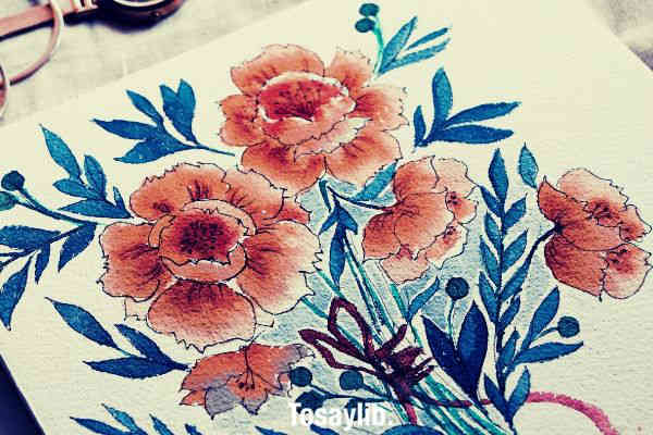 beautiful painting of flowers v2
