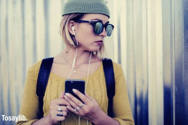 portrait yellow city life music hair sunglasses action mobile phone woman hipster urban portrait