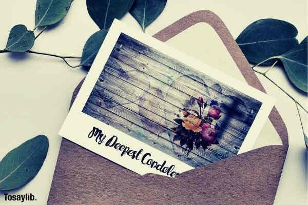 condolences trauerkarte letters envelope leaves