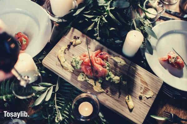 food lifestyle wine healthy food foodie samon dinner table