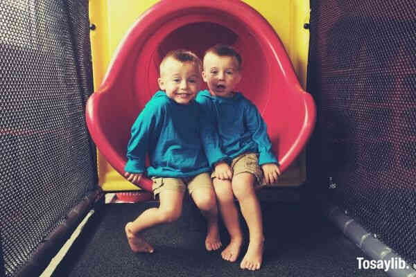 twins brothers slide