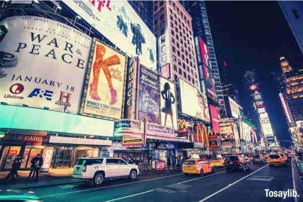 busy street new york city
