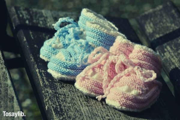 baby shoes birth greeting twins