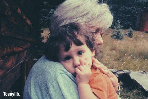 nature love cabin family eyes grandma grandson