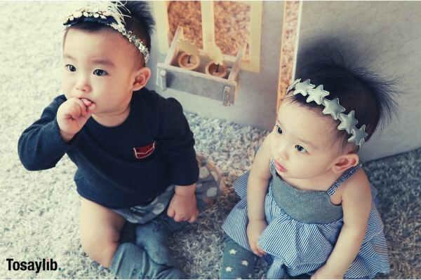 twins stone photos angel baby girl boy