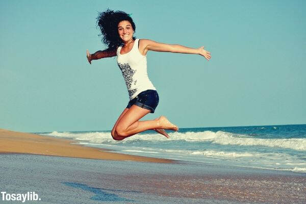 fitness jump health woman girl