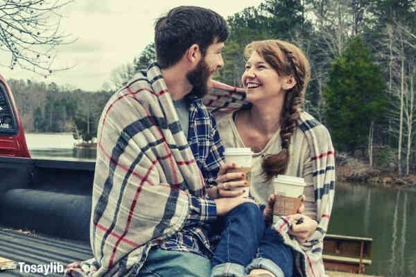 love coffee and a truck couple trees outdoor