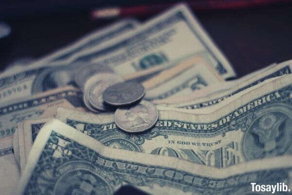 money coins dollar bill