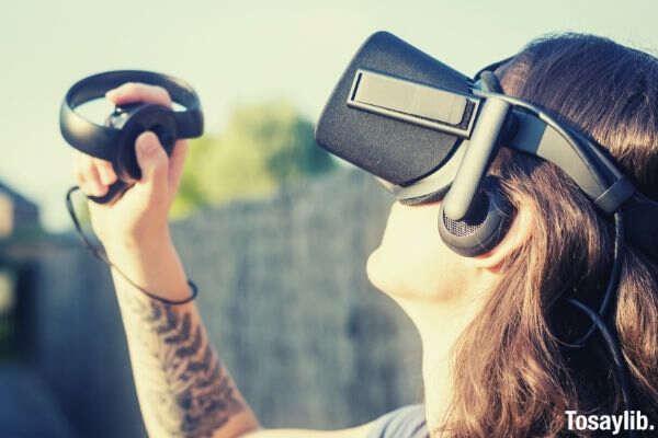 playing backyard technology game gadget future virtual vr augmented reality virtual reality