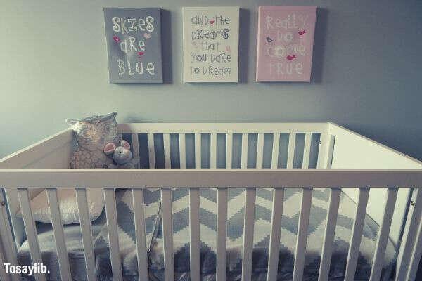 crib nursery baby bedroom